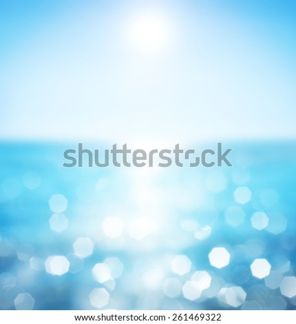 Lights on sea background.Waves. - stock photo