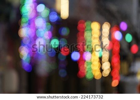 Lights on street side shop on the occasion of Diwali festival in Mumbai, India in October 2014. - stock photo