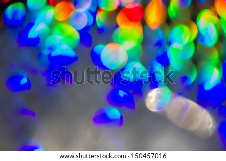 Lights out of focus - soft focus - stock photo
