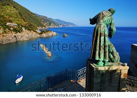 Ligurian coast at Monterosso al Mare, Cinque Terre, Italy - stock photo