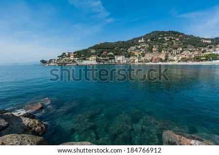 Ligurian sea italy - stock photo