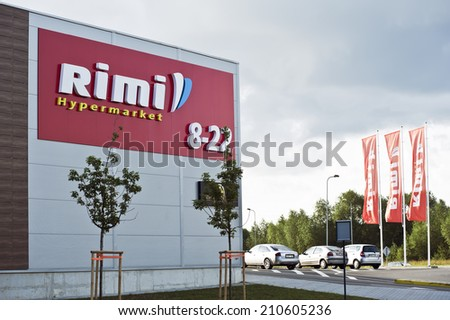 LIHUANIA-AUGUST 11:Rimi hypermarket  on August 11, 2014 in Lithuania.
