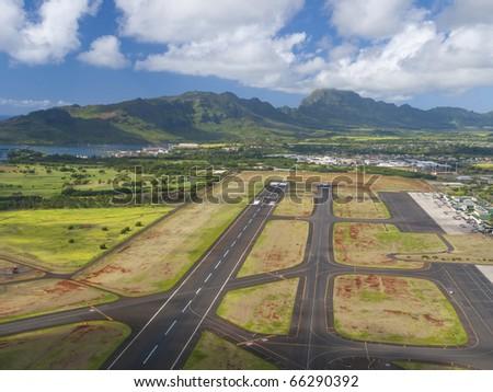 Lihue Airport of Kauai, Hawaii - stock photo