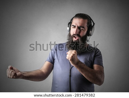 Like a singer - stock photo