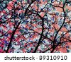 Like an oriental style, cherry blossom pattern-design. - stock photo