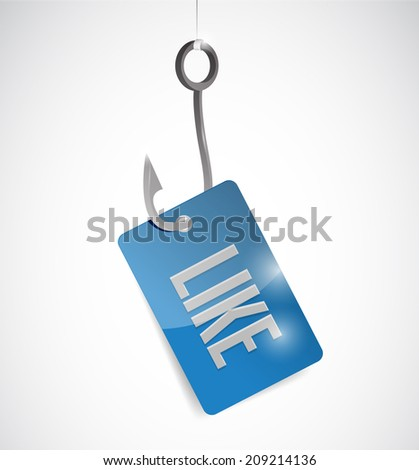 like and hook illustration design over a white background - stock photo