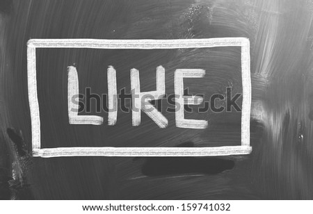 Like Concept - stock photo