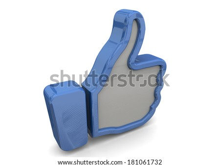 LIKE - 3D - stock photo