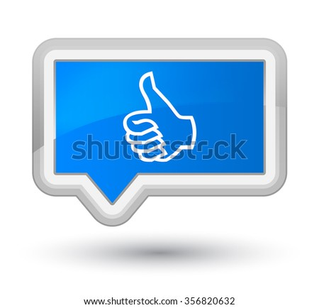 Like icon cyan blue banner button - stock photo