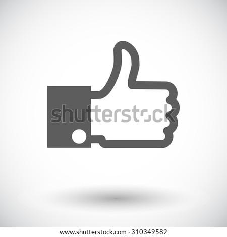 Like. Single flat icon on white background.  illustration. - stock photo