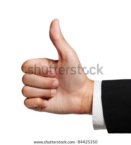 Like. Thump up. - stock photo