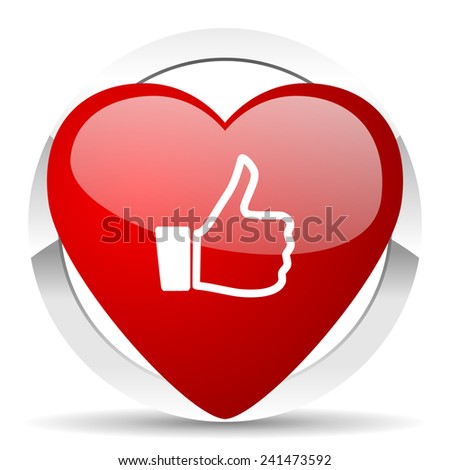 like valentine icon thumb up sign