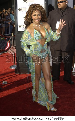 LIL KIM at the 3rd Annual BET (Black Entertainment TV) Awards at the Kodak Theatre, Hollywood. June 24, 2003  Paul Smith / Featureflash - stock photo