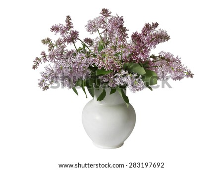 Lilac Bouquet in a  white vase