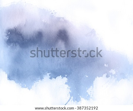 Lilac spot, watercolor abstract hand painted background. Serenity Tint Watercolour Texture Gradient. Pastel Colored Palette. - stock photo