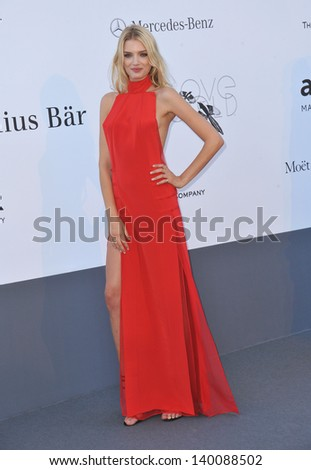 Lily Donaldson at amfAR's 20th Cinema Against AIDS Gala at the Hotel du Cap d'Antibes, France May 23, 2013  Antibes, France - stock photo