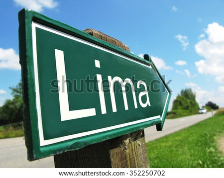 LIMA signpost along a rural road