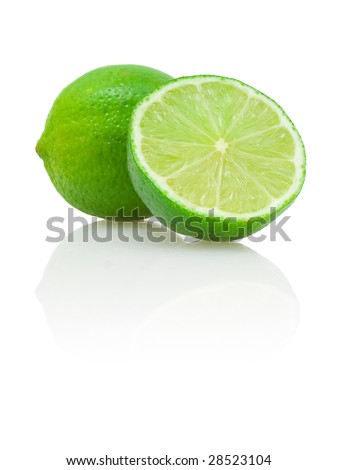 lime and its half - stock photo
