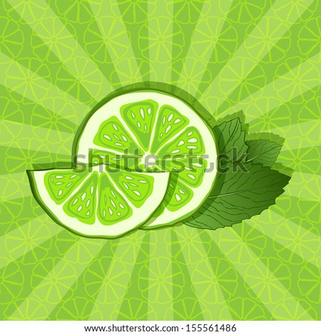 lime and mint background - raster version
