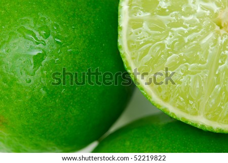 lime background close up