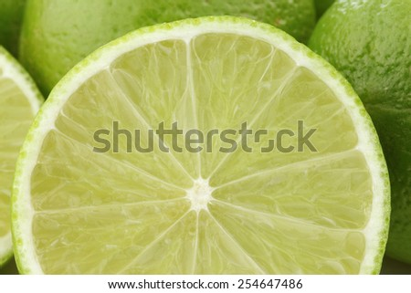lime fruits background - stock photo