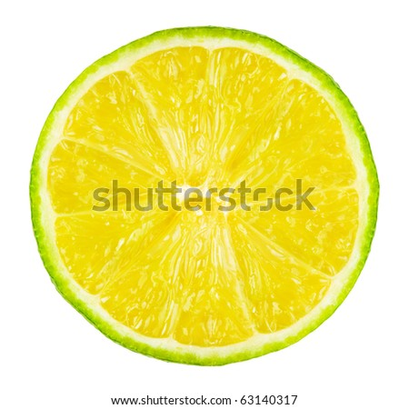 Lime isolated on white background - stock photo