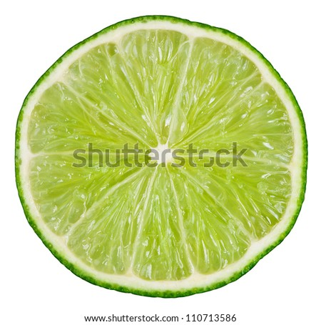 Lime isolated on white background with clipping path - stock photo