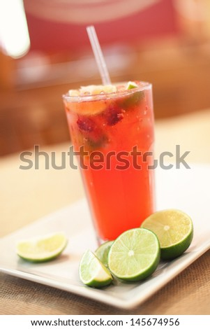 Lime Rickey Fruity Drink with Limes