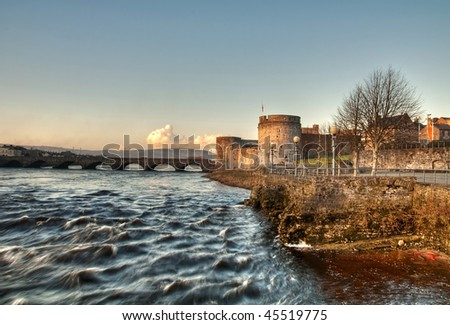 Limerick castle in HDR - stock photo