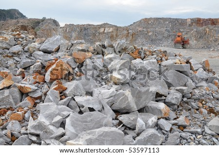 Limestone for cement plant - stock photo