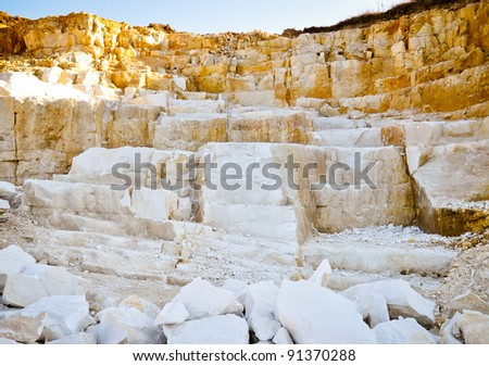 Limestone quarry - stock photo