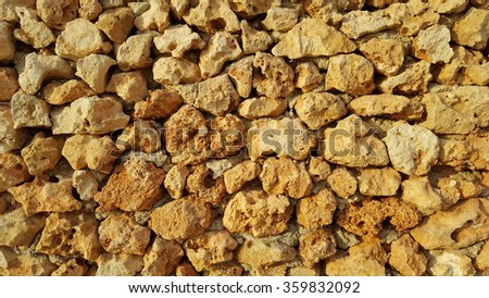 Limestone texture from an ancient temple in Malta - stock photo