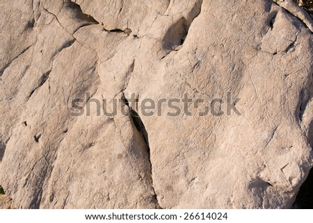 limestone water carved white cliff background - stock photo