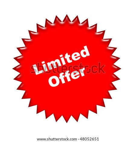 limited offer icon - stock photo