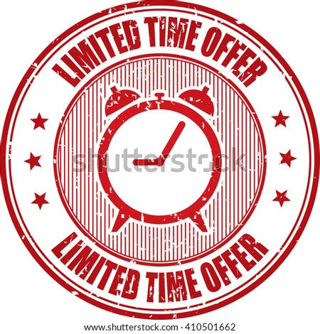 Limited time offer grunge stamp. - stock photo