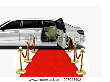 Limo Red Carpet Arrival - stock photo