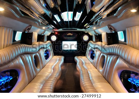 Limousine salon. - stock photo
