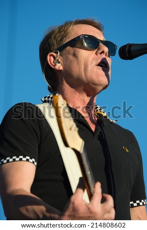 LINCOLN, CA - August 31: Dave Wakeling of The English Beat performs in support of Retro Futura Tour  w/ Tom Bailey and Howard Jones at Thunder Valley Casino in Lincoln, California on August 31, 2014 - stock photo