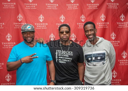 LINCOLN, CA - August 22: (LR) Wanya Morris, Nathan Morris and Shawn Stockman of