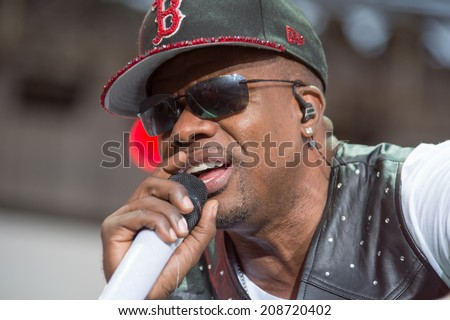 LINCOLN, CA - August 1: Ricky Bell of New Edition performs at Thunder Valley Casino Resort in Lincoln, California on August 1, 2014 - stock photo