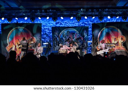 LINCOLN, CA - FEB 15: The Zapp Band perform at V101's Valentines bash featuring The Club Nouveau and The Bar-Kays at Thunder Valley Casino Resort in Lincoln, California on February 15, 2013