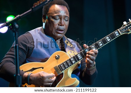 LINCOLN, CA - July 26: George Benson performs at Thunder Valley Casino Resort in Lincoln, California on July 26, 2014 - stock photo