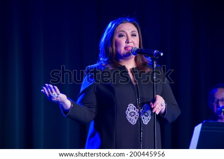 LINCOLN, CA - June 22: Filipino actress and singer Sharon Cuneta performs at Thunder Valley Casino Resort in Lincoln, California on June 22, 2014 - stock photo