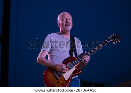 LINCOLN, CA - June 6: Peter Frampton performs at Thunder Valley Casino Resort in in Lincoln, California on June 6, 2015 - stock photo