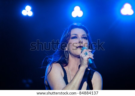 LINCOLN, CA - SEPT 16: Gretchen Wilson performs with Big & Rich at Thunder Valley Casino and Resort in Lincoln, California on September 16th, 2011 - stock photo