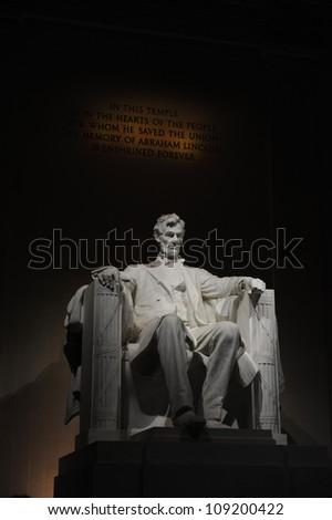 Lincoln Memorial at Night - stock photo