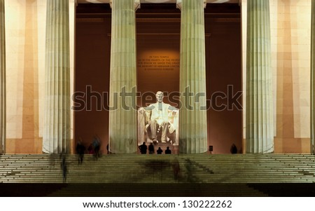 Lincoln Memorial at the National Mall. Washington DC - stock photo