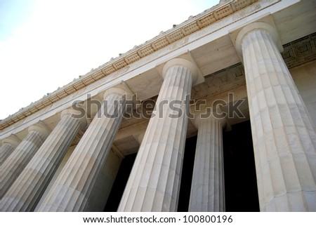 Lincoln Memorial Ceiling ,and Column Structure in Washington DC , USA