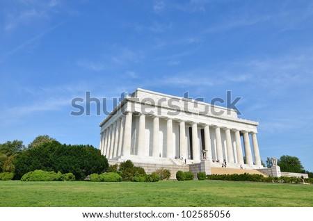 Lincoln Memorial in a spring day - Washington DC USA - stock photo