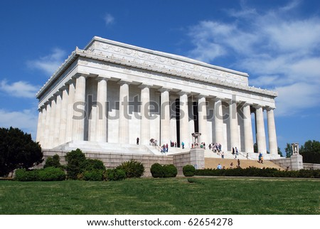 Lincoln Memorial Midday, Washington Mall, Washington, DC - stock photo